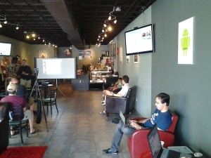 "HackMiami meets at the ""Planet Linux Caffe"" (Source: HackMiami)"