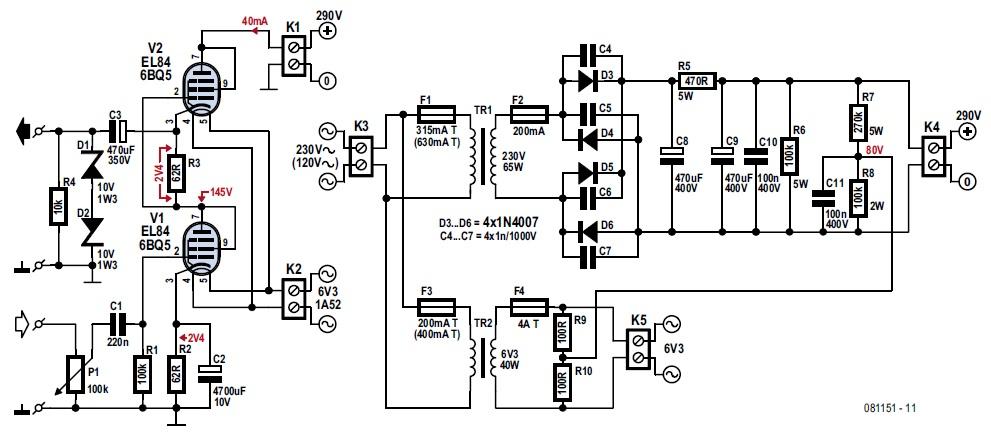 srpp headphone amplifier  ee tip  106