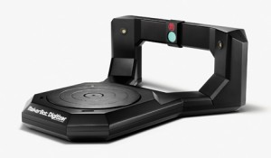 Photo 3: The MakerBot Digitizer Desktop 3-D Scanner is the first production scanner I've seen that will directly provide files compatible with the 3-D printing process. This is a long-awaited addition to MakerBot's line of 3-D printers. (Photo credit: Spencer Higgins)