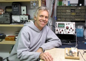 "Dean ""Dino"" Segovis at his workbench"