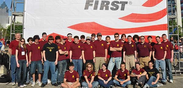 Peter's FIRST team is pictured at the 2009 championship at the Georgia Dome in Atlanta, GA. (Peter is standing fourth from the right.)