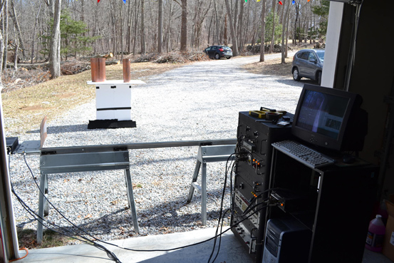 Photo 4: Charvat built this S-band, range-gated frequency-modulated continuous-wave (FMCW) rail SAR imaging system