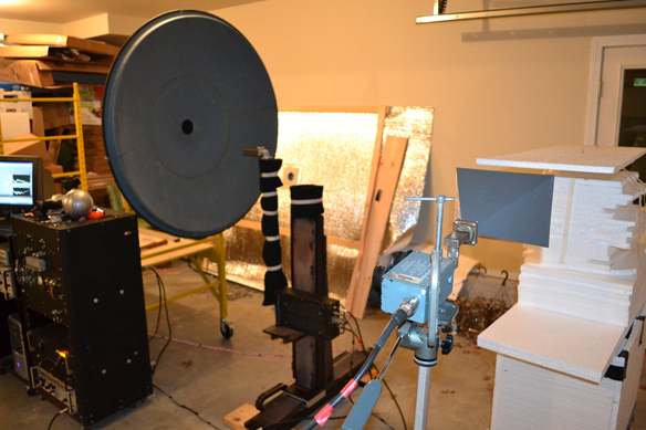 Photo 7: Charvat's quasi-optical imaging system includes a parabolic dish.