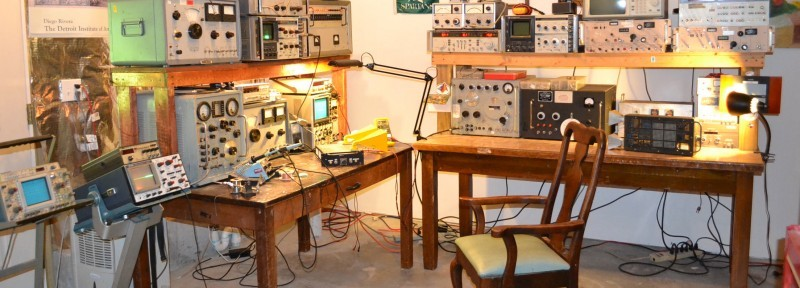 Photo 2: This is another view of the lab, where strong lighting and two oscilloscopes are the minimum requirements.
