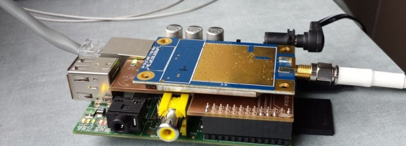 Photo 2: The base station includes an interface board, a Raspberry Pi, and a radio modem.