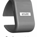 The Amulet bracelet-style prototype for developers enables users to control its settings