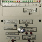 The front panel of the oscillator/volume unit (VU) meter contains all the necessary controls. (Source: L. Cicchinelli)