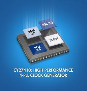 CY27410 4-PLL Clock Generator