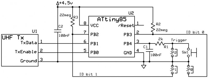 Figure 1: Simple Transmitter Schematic