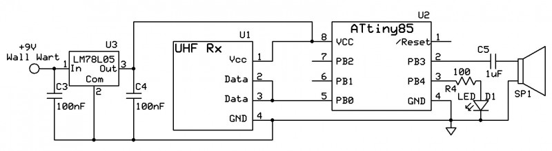 Figure 2: Simple Receiver Schematic