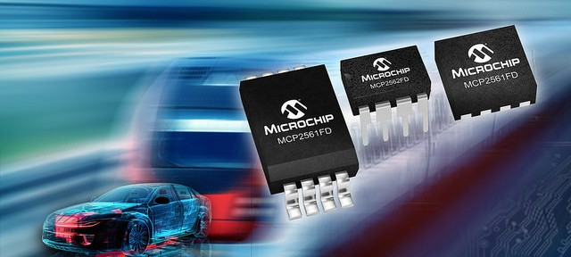 Microchip MCP25612FD CAN FD transceivers