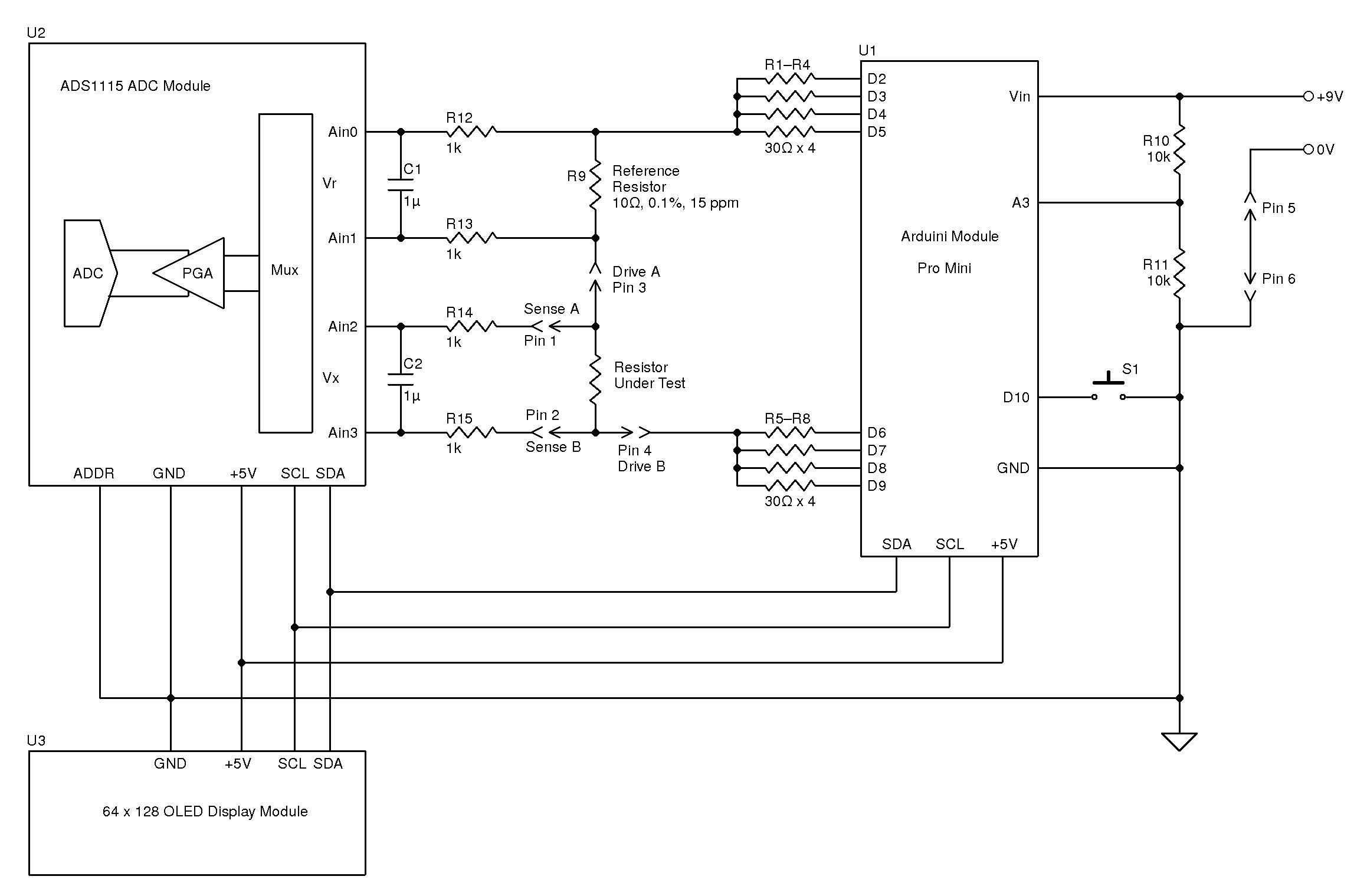 Build An Accurate Milliohm Meter Circuit Cellar Precision Receiver Battery Low Voltage Alarm Diagram Sad Dsg