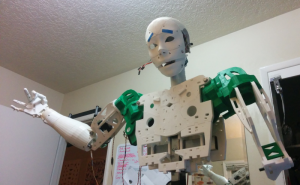 Photo 1 The InMoov robot built at Portland State University's robotics lab