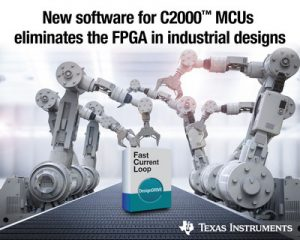 New TI MCU software eliminates an FPGA in industrial systems (PRNewsfoto/Texas Instruments Incorporated)