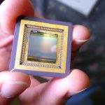 PHOTO 1 The CMOS image sensor serves as the base for the graphene layer.