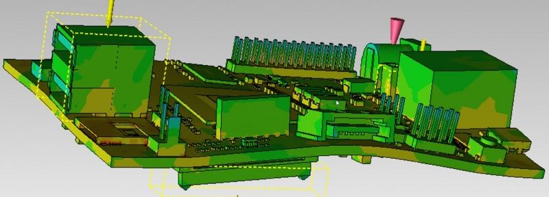 Simulation results should be available in a two-phase post-processor for each simulation, providing broad input on the PCB's behavior under the defined conditions.