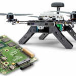 The Intel Aero Ready to Fly Drone is a pre-assembled quadcopter built for professional drone application developers. The platform features a board running an Intel 2.56 GHz quad-core Intel Atom x7-Z8750 processor.