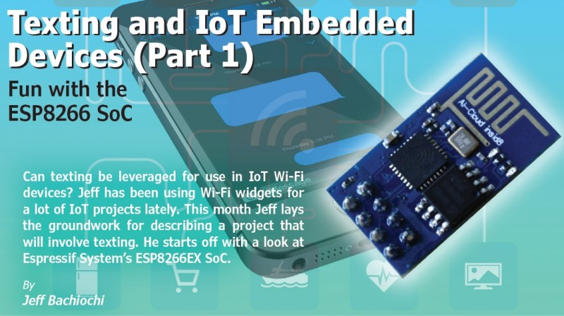 Texting and IoT Embedded Devices (Part 1) | Circuit Cellar