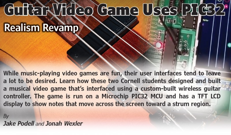 Guitar Video Game Uses PIC32
