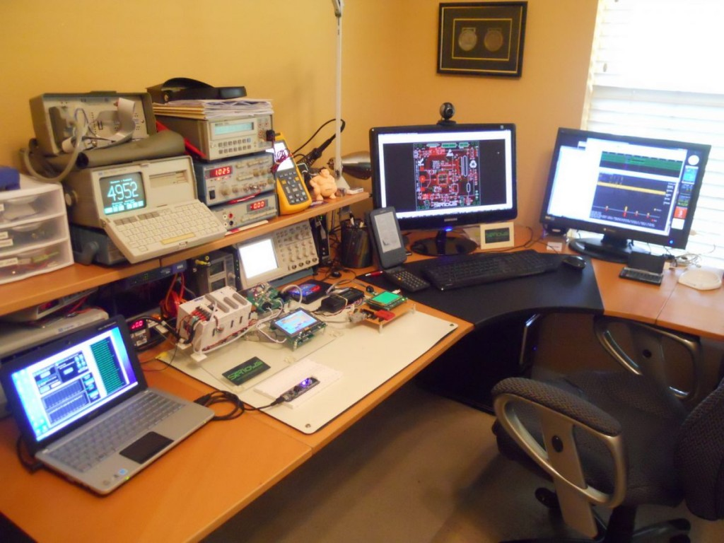 A Rat S Nest Less Workspace Clean With Plenty Of Screens