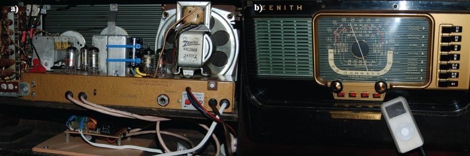 Simple Circuits: Turn a Tube Radio Into an MP3 Amp | Circuit Cellar