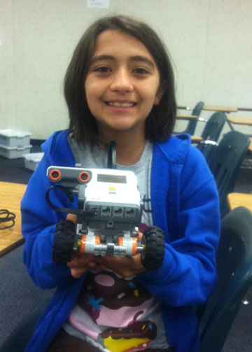 Krystal and her robot