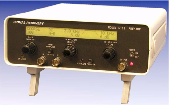 Photo 3: This is the Signal Recovery Model 5113 low-noise pre-amplifier.