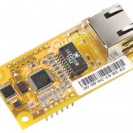 WIZnet's WIZnet550io auto configurable Ethernet controller module includes a W5500, transformer, and RJ-45.