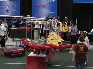 The FIRST team's 2010 robot is shown.