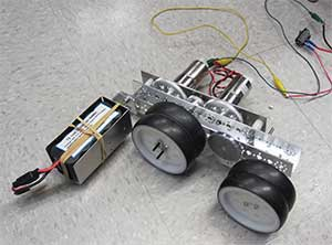 The team designed a prototype minibot.