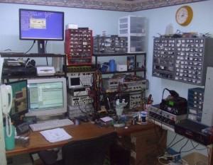 Steven Hendrix's basement workspace