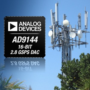ADI AD9144 16-bit 2.8 GSPS DAC - Fastest Quad IF DAC - High Dyna