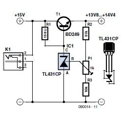 Low-Drop Series Regulator Using a TL431 (EE Tip #134) | Circuit Cellar
