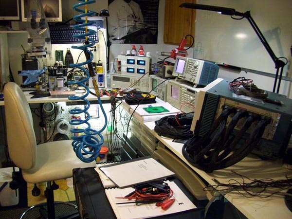Gerry's lab bench
