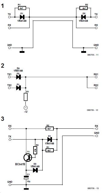 Grun1-Wire-RS232-HalfDup