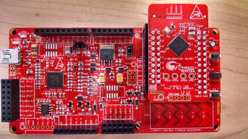 CY8CKIT-042-BLE Bluetooth Low Energy Pioneer Kit | Circuit