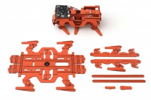 The robots are made flat. Simple fold and assemble them.