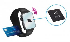 Figure 2 ST's ST53G System-in-Package combines a miniaturized and enhanced NFC radio with a secure banking chip in one compact 4 mm x 4 mm module.