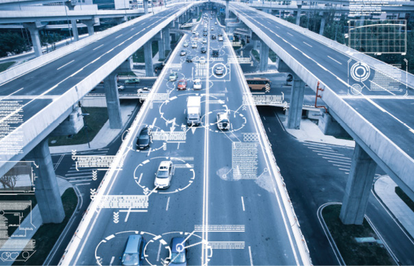 Figure 1  The automotive domain with assisted or autonomous driving is a good example application where safety and security challenges are becoming more complex and dependent on software.